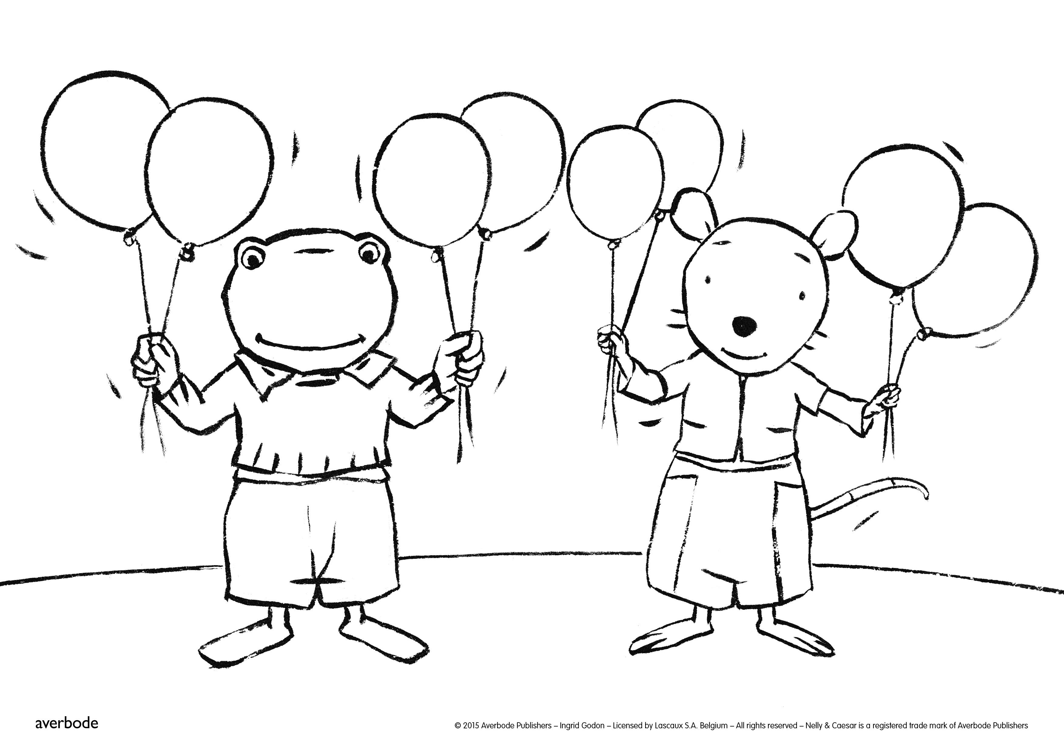 Kleurplaat Kikker En Zijn Vriendjes Verjaardag Archidev